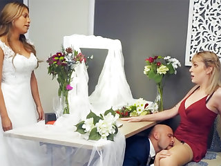 Bridesmaid loosen up groom hard sex