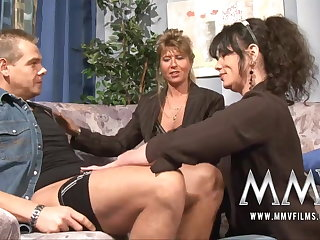 MMV Films Grown-up teacher having fun with a couple