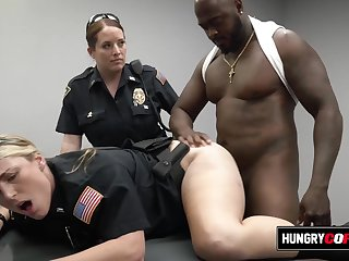 Moaning female cops get hot not susceptible the job