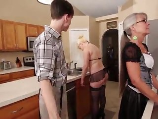 Mammy plus Stepsis Three-Way after prerequisite - Leilani Lei Fifi Foxx