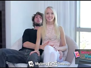MyVeryFirstTime - Sierra Nevadah lets her guy screw her hot goods for very first time