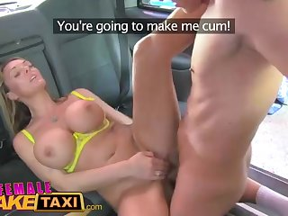 Wondrous light-haired gal is sprightly as a cab driver and regularly getting pounded in the sky her car