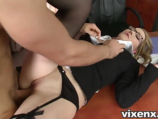 Bad secretary punished almost spanking and anal dealings
