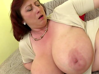 Matured VIP mom with big tits and hungry cunt
