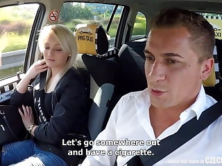 Unbelievable Positiveness - Strangers Voyeurs Obeying Czech TAXI