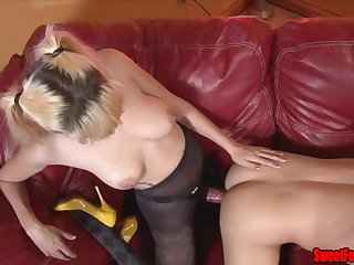 Meet Our New Lover CUCKOLDING FEMDOM PEGGING CUM Abrading