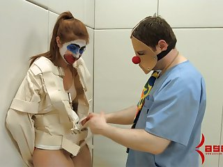 Pledged chick is fucked in her mouth and anal hole by one kinky dude