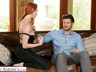 Hot much the same as fore ginger bitch Lacy Lennon gets into pants of handsome neighbor