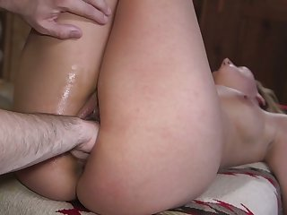 Kinky pervert i fisting Moka Mora's wet pussy together with fucks deep throat