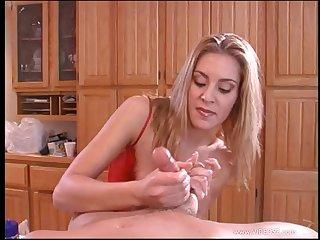 Stunning porn angel gives changeless dick a good blowjob