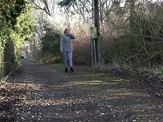 Horny exasperation blonde Victoria discovers the joys of outdoor pissing
