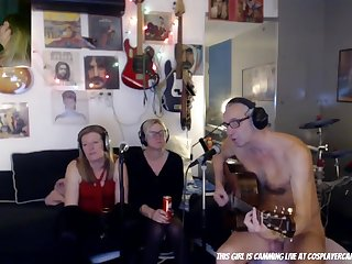 Bizarre CFNM webcam music show