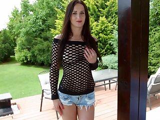 Slutty nextdoor generalized Emily Ross shows off stretched creamy anus