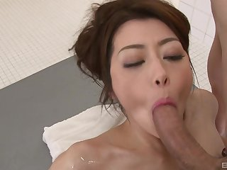 Japanese wife is intrigued about a possible facial all round due course