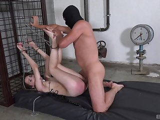 Call-girl gets ass spanked by her master dovetail brutally fucked