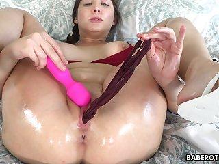 Unparalleled brunette, Blair Williams is masturbating