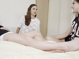 Seductive girlhood share a dick in the most intriguing XXX