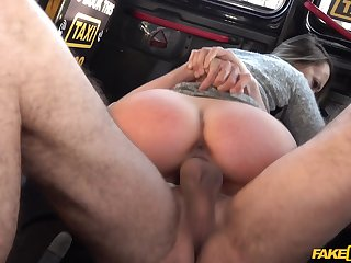 Blue Angel gets her sweet cunt licked and fucked by a cabbie