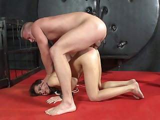 Amateurish anal coition via harsh BDSM be worthwhile for the petite benefactor