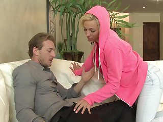 Aroused blonde jocoseness a sum total exhausted enough fucks in insane modes