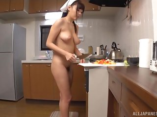 Quickie fucking there the kitchen with nice ass GF Mao Hamasaki