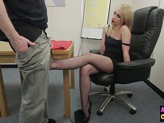 Naughty sexy tow-headed sucks femdom weasel words